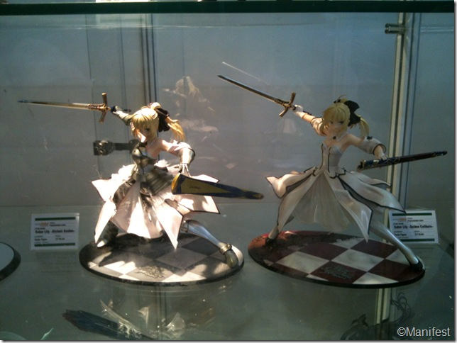 Saber action figure collection