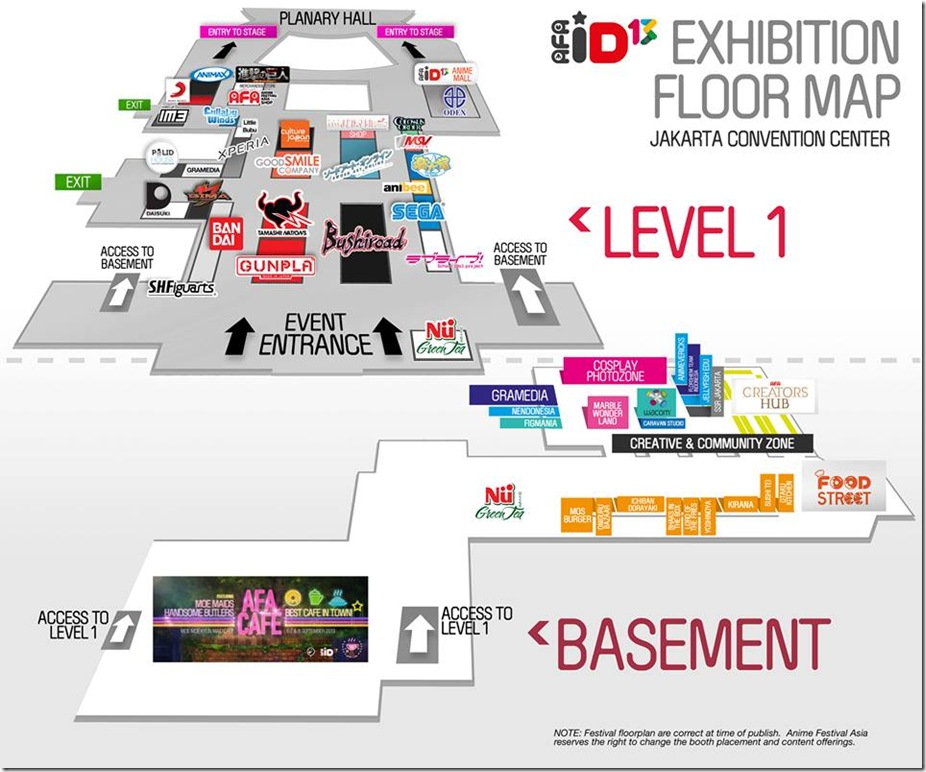 AFA ID 2013 Floor map