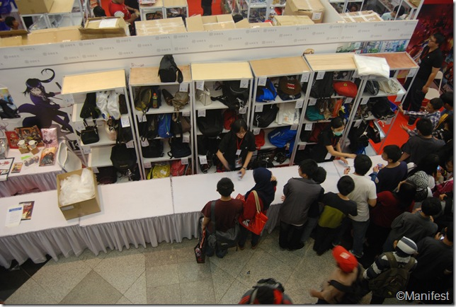 ODEX booth bag deposit place