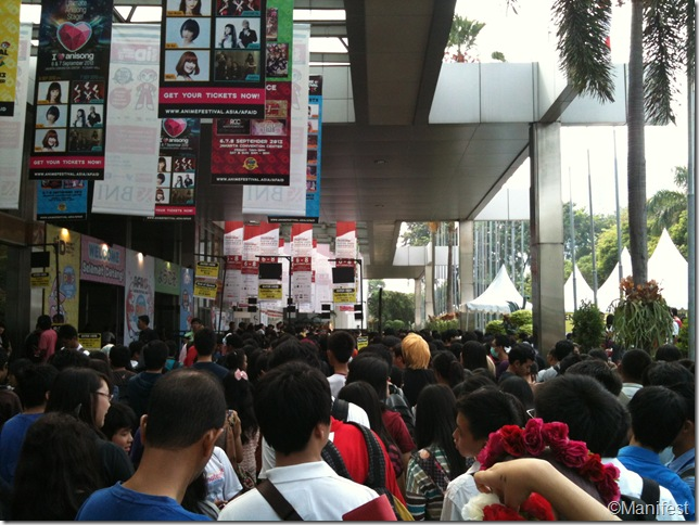 entrance crowd